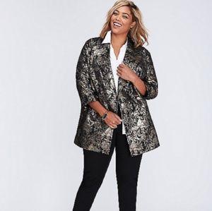 Lane Bryant Size 18/20 Metallic Jacquard Jacket